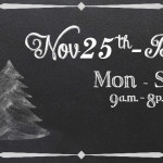 Holiday Hours Chalk Banner